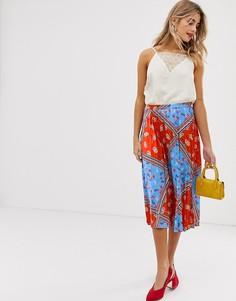 Плиссированная юбка с цветочным принтом Liquorish - Мульти