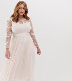 Платье миди с вышивкой Coast Plus - Розовый