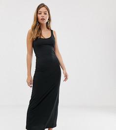Черное трикотажное платье макси Vero Moda Petite - Черный