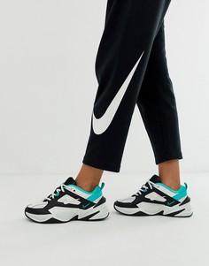 Черно-бело-зеленые кроссовки Nike M2K Tekno - Белый