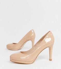 Туфли на каблуке и платформе для широкой стопы Miss KG - Бежевый