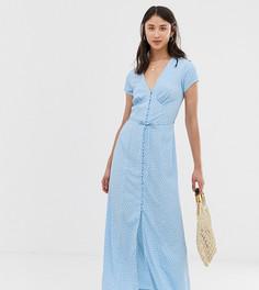 Чайное платье макси в горошек Vero Moda Tall - Синий