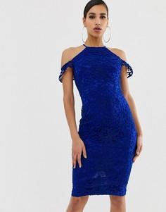 Платье-халтер миди AX Paris - Синий