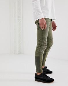 Зеленые узкие джинсы карго G-Star Motac 3D - Зеленый