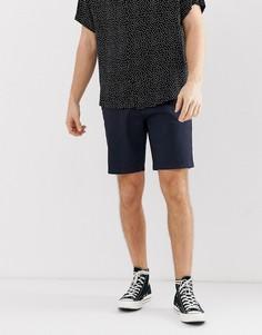 Темно-синие шорты чиносы Burton Menswear - Темно-синий