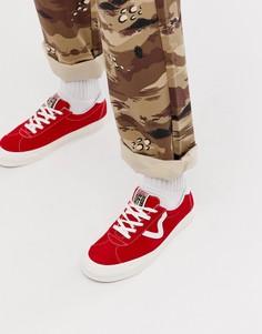 Красные кроссовки Vans Anaheim Style 73 - Красный