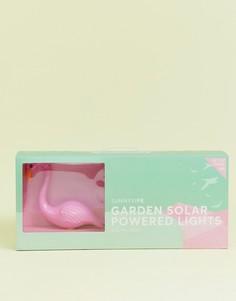 Набор из 3 садовых фонарей в виде фламинго Sunnylife - Розовый