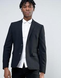 Узкий пиджак с добавлением шерсти Minimum - Черный