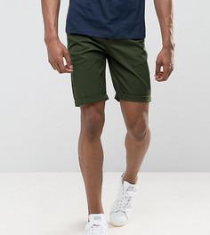 Темные узкие шорты чиносы цвета хаки ASOS DESIGN Tall - Зеленый