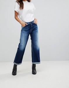 Джинсы с расклешенными широкими штанинами Replay - Синий