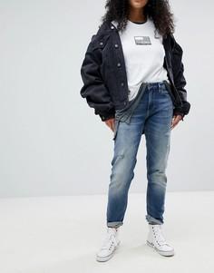 Рваные джинсы бойфренда Calvin Klein - Синий
