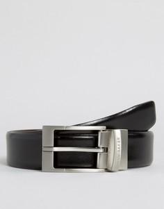 Классический двусторонний кожаный ремень Ted Baker - Черный