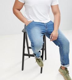 Выбеленные эластичные джинсы классического кроя Loyalty and Faith PLUS - Синий