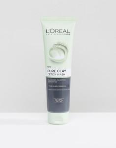 Очищающая пенка для умывания с глиной LOreal Paris Pure Clay - Бесцветный LOreal