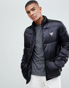 Атласная дутая куртка Love Moschino - Черный