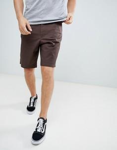 Темно-коричневые удлиненные шорты ASOS DESIGN - Коричневый