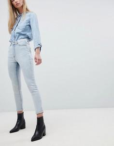 Укороченные джинсы скинни с завышенной талией Dr Denim Cabana - Синий
