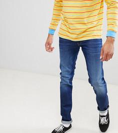 Выбеленные джинсы классического кроя Lee luke - Синий