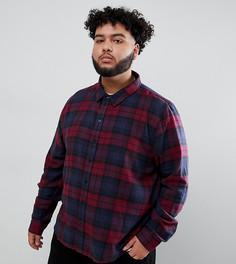 Рубашка в малиновую клетку Another Influence PLUS - Красный