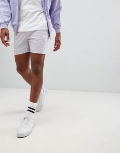 Пастельные фиолетовые шорты чиносы скинни ASOS DESIGN - Фиолетовый