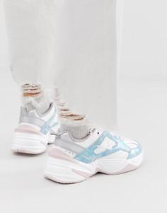 Сине-розовые кроссовки Nike M2K Tekno - Белый