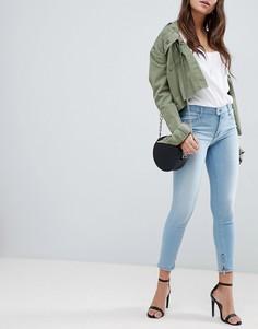 Эластичные джинсы с завышенной талией Replay- Touch - Синий