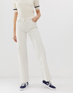 Расклешенные джинсы со шнуровкой Pepe Jeans Strand - Кремовый