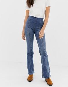 Узкие джинсы клеш Free People - Синий
