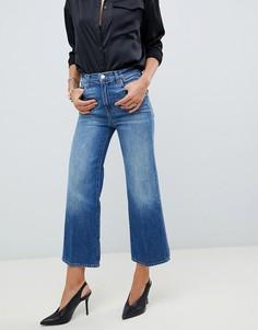 Широкие укороченные джинсы с завышенной талией J Brand Joan - Синий