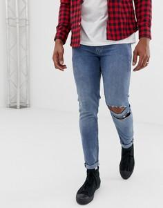 Синие супероблегающие джинсы Cheap Monday - Синий