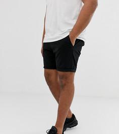 Черные облегающие шорты чиносы с эластичным поясом ASOS DESIGN Plus - Черный