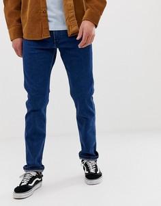 Выбеленные суженные книзу джинсы Wrangler 11mwz - Синий