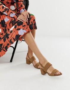 Бежевые замшевые босоножки на расклешенном каблуке ALDO Arievia - Бежевый