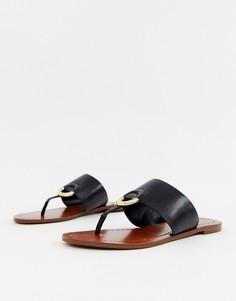Черные кожаные сандалии ALDO Ocericia - Черный