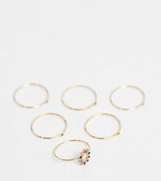Золотистые кольца с разноцветными камнями ALDO - Золотой