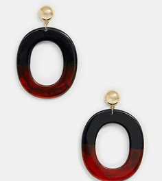 Черные/черепаховые серьги-кольца из резины ALDO Loverralle - Мульти