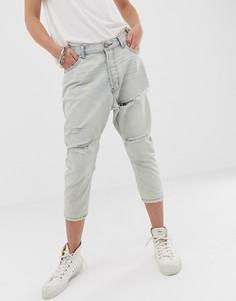 Укороченные джинсы с прорехами One Teaspoon - Синий