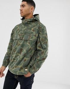 Зеленая камуфляжная куртка через голову G-Star Xpo - Зеленый