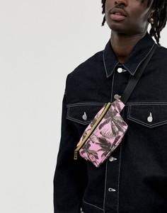 Сумка-кошелек на пояс с пальмовым принтом Mi-Pac - Розовый