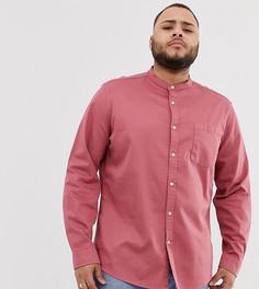 Розовая эластичная джинсовая рубашка классического кроя с воротником на пуговице ASOS DESIGN - Розовый