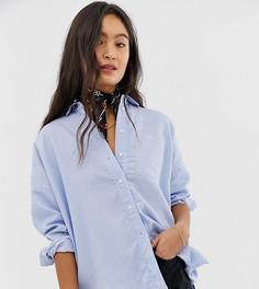 Oversize-рубашка в полоску People Tree - Синий