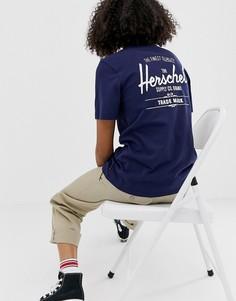 Классическая футболка с логотипом Herschel - Синий