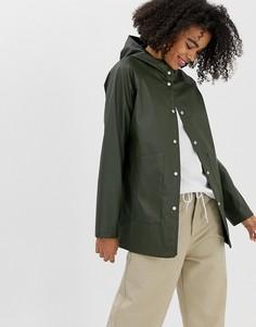 Водонепроницаемая куртка с капюшоном Herschel - Зеленый