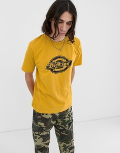 Желтая футболка с большим логотипом Dickies - Желтый
