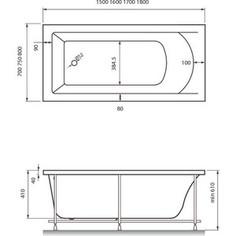 Акриловая ванна Vayer Savero 170x75 (Гл000009148)