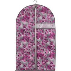 Чехол для одежды Handy Home Роза, Д1000 Ш600, розово-серый