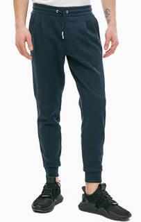 Синие хлопковые брюки джоггеры в спортивном стиле Armani Exchange