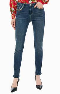 Зауженные джинсы с яркой отделкой камнями Bottom Up Precious Liu Jo