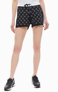 594eb283f666 Короткие шорты из вискозы с декором Liu Jo Sport черно-белые