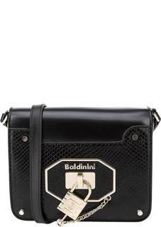 Кожаная сумка с выделкой под рептилию Frida Baldinini